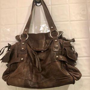 Jesslyn Blake Patchwork Brown boho leather bag